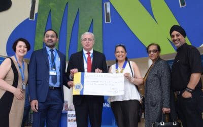 Lions of Coventry Godiva Donate £5001 to Fund Pioneering E.N.T. Research and Equipment