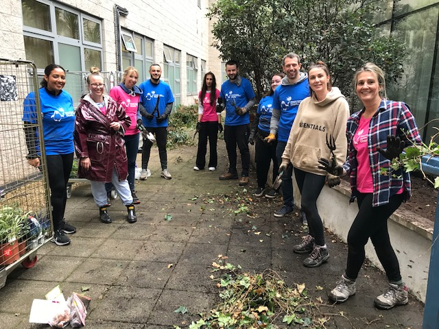 Digging in the Rain! Coventry Building Society's Transformation of Hospital Faith Garden